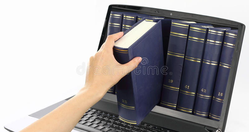 Digital library royalty free stock photos
