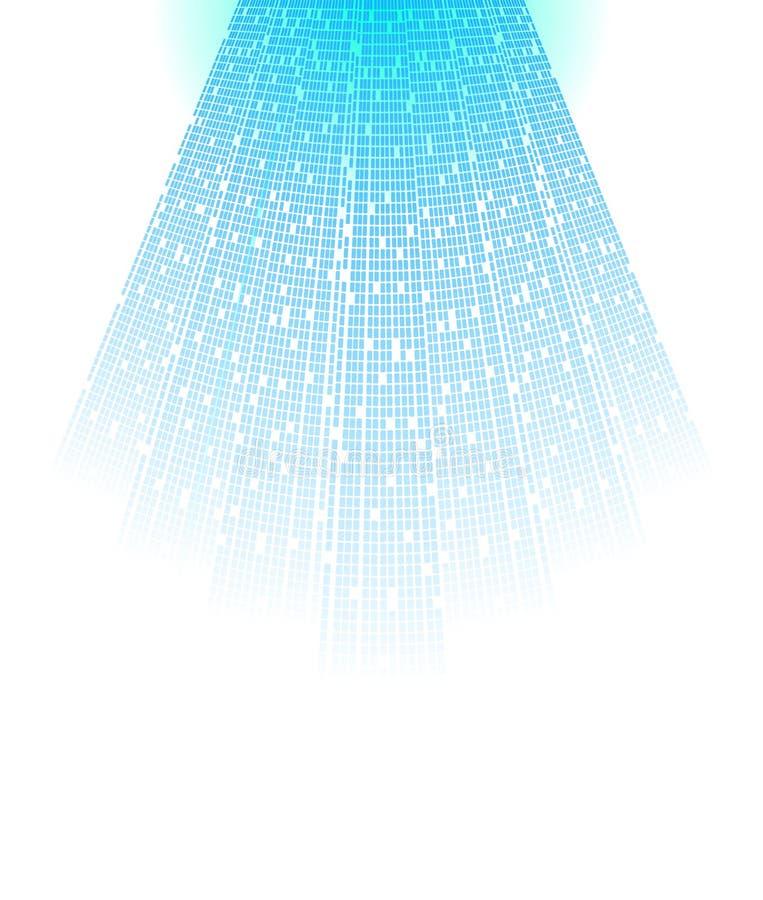 Digital light. Modern rays in blue color. Vector background stock illustration