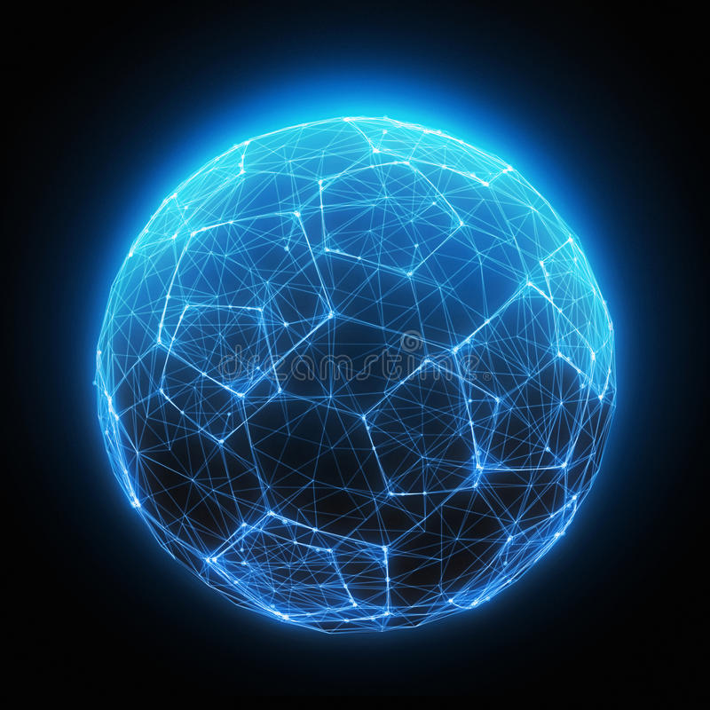 digital light ball stock illustration illustration of illuminated