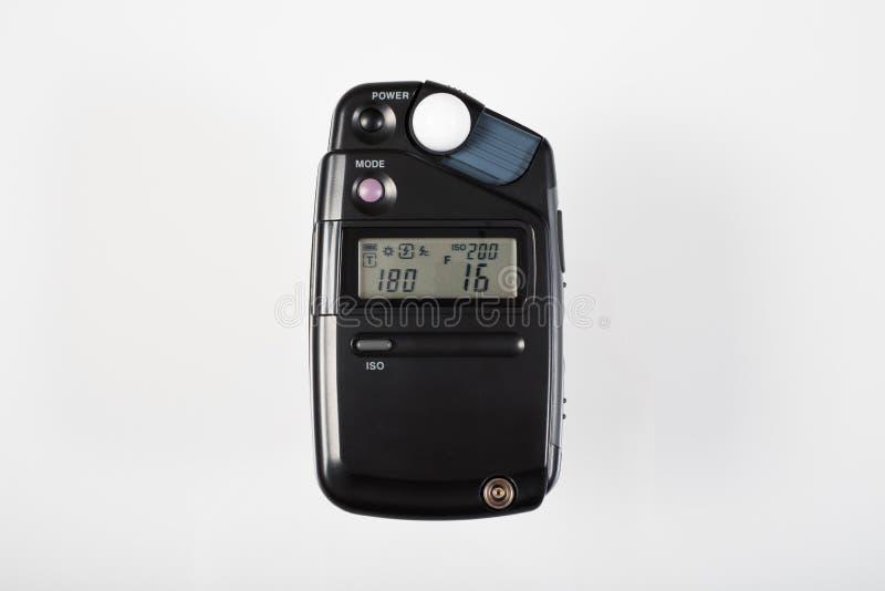 Digital lightmeter operating stock image