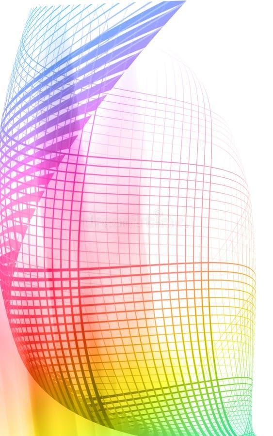 Digital line effect background stock illustration
