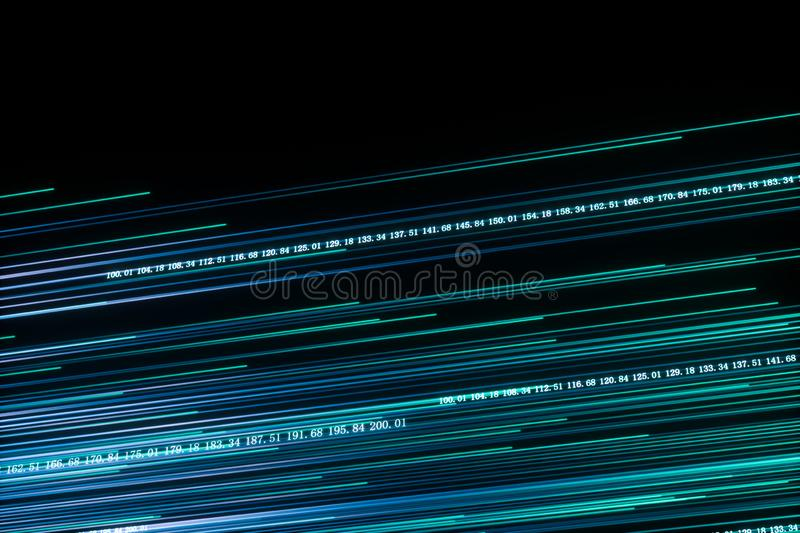Digital lines made of numbers, globe big data background, 3d rendering. Computer digital background, space, system, science, scientific, futuristic, cyberspace vector illustration