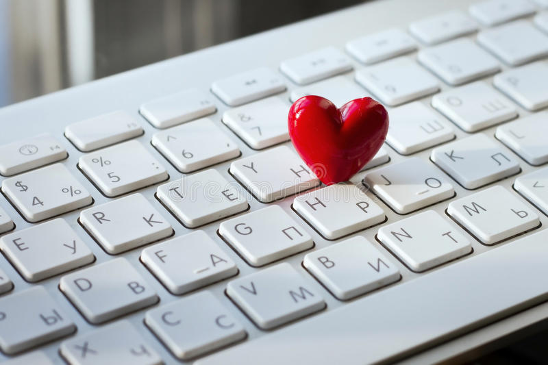 Digital love. Online dating concept stock photography