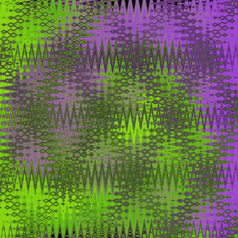 Digital-Malerei-schöner abstrakter bunter gewellter dreieckiger Zickzack-Beschaffenheits-Schicht-Muster-Hintergrund vektor abbildung