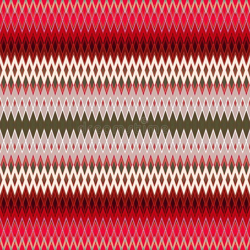 Digital-Malerei-schöner abstrakter bunter gewellter dreieckiger Zickzack-Beschaffenheits-Schicht-Muster-Hintergrund stock abbildung