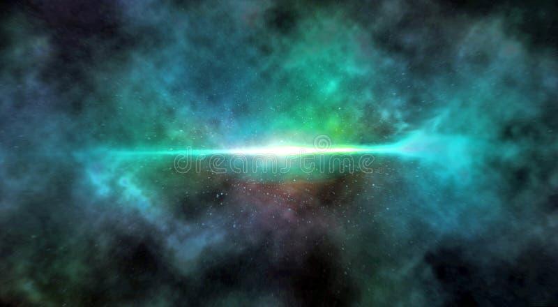 Digital-Malerei-Zusammenfassungs-Galaxie-Hintergrund - Explosion im Weltraum lizenzfreie abbildung