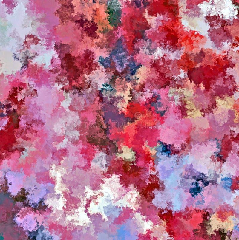 Digital-Malerei-Zusammenfassungs-Mehrfarbenwasser-Farbfarben-Hintergrund lizenzfreie abbildung