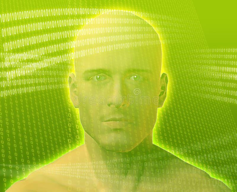 digital man vektor illustrationer