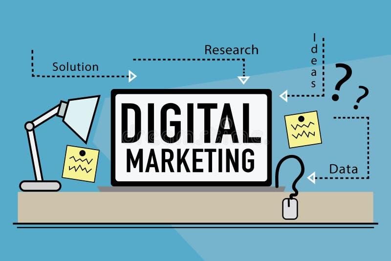 Digital-Marketing stock abbildung