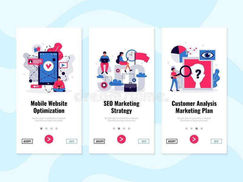 Digital Marketing Banners Set stock illustration
