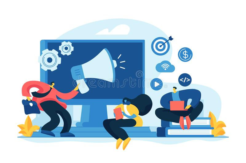 Digital marketing strategy concept vector illustration royalty free illustration