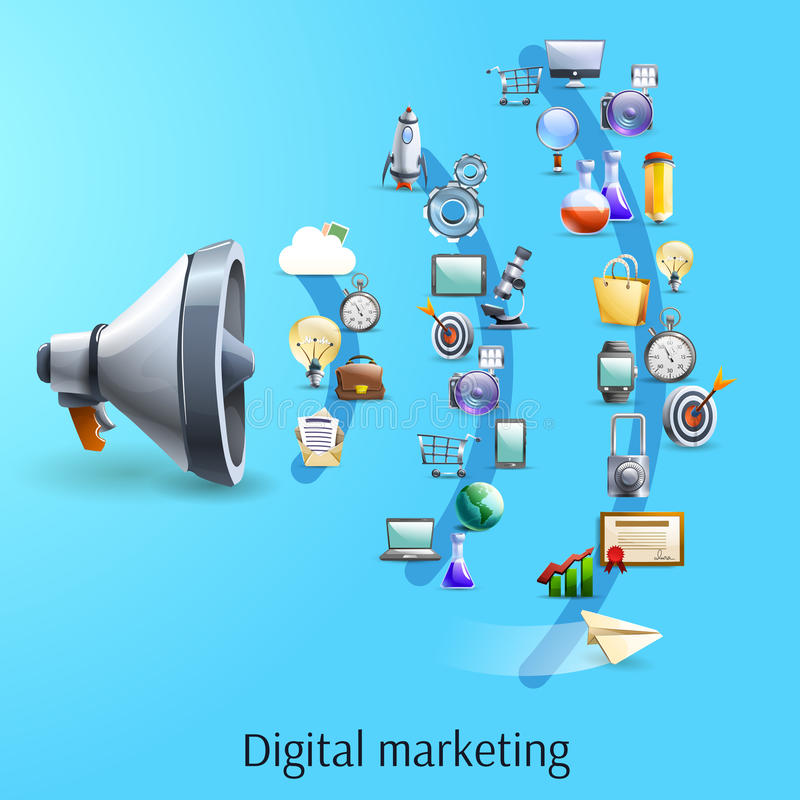 Flat Design Ilration For Digital Marketing Banner And Promotional Material