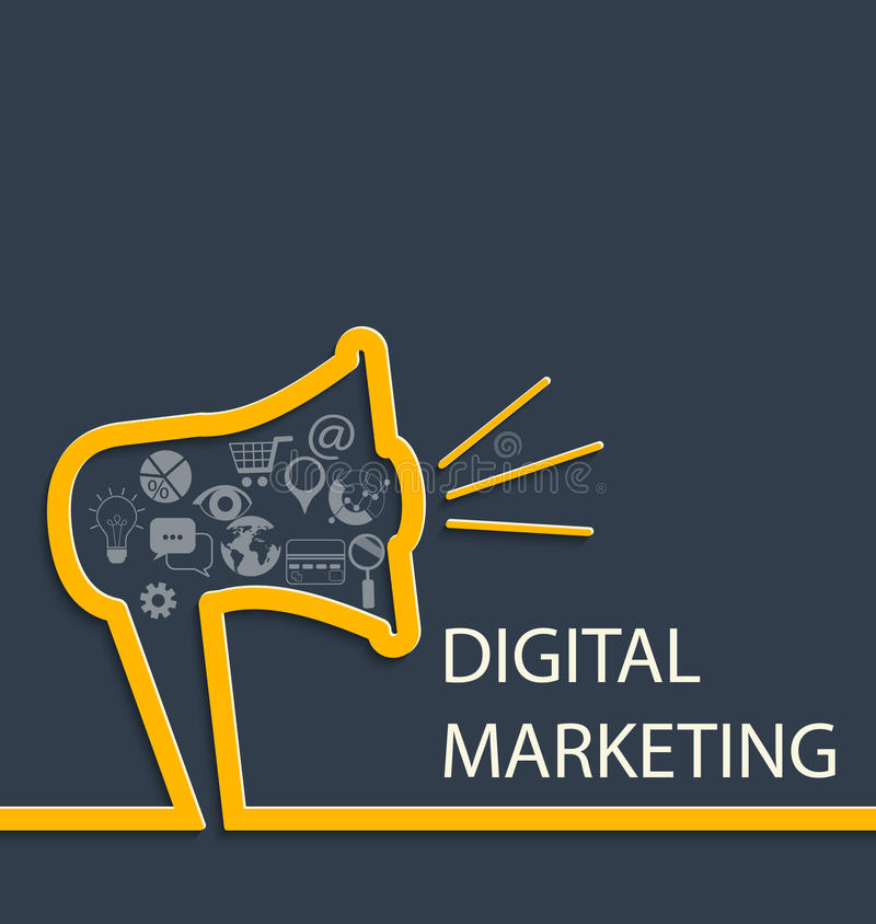 Digital marketing concept. stock illustration