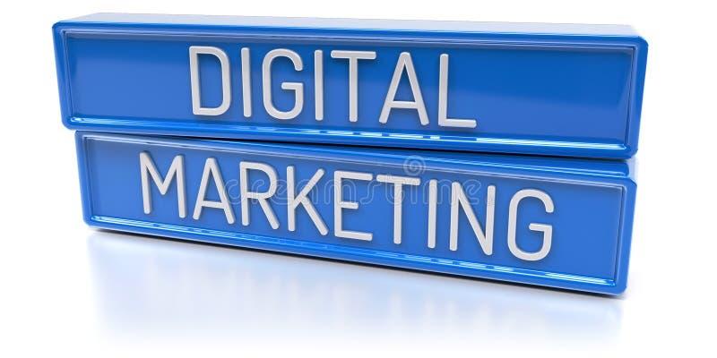 Digital Marketing - 3D Render royalty free illustration