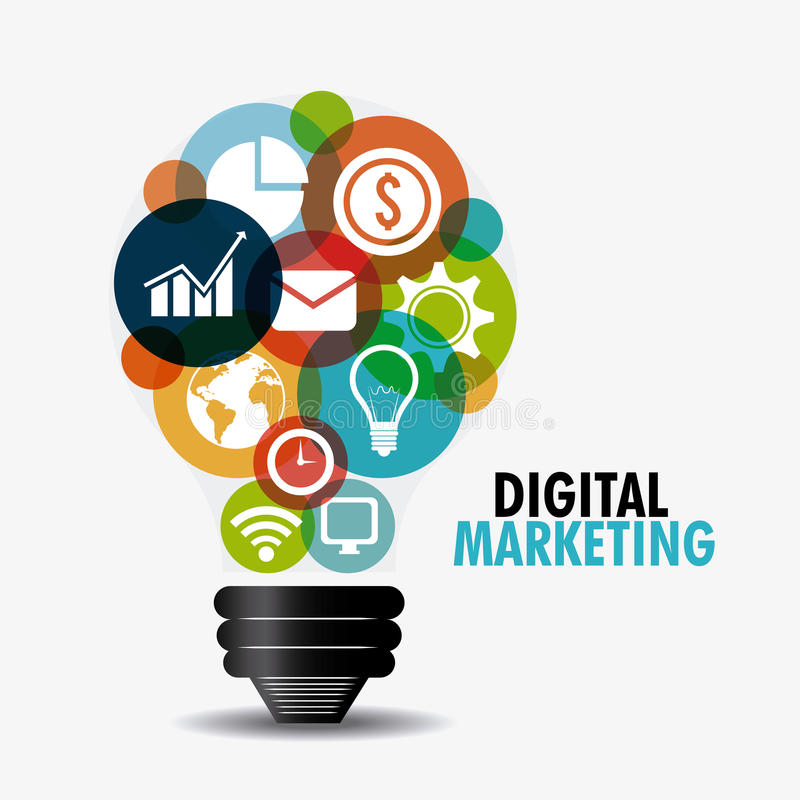 Digital-Marketing-Design vektor abbildung