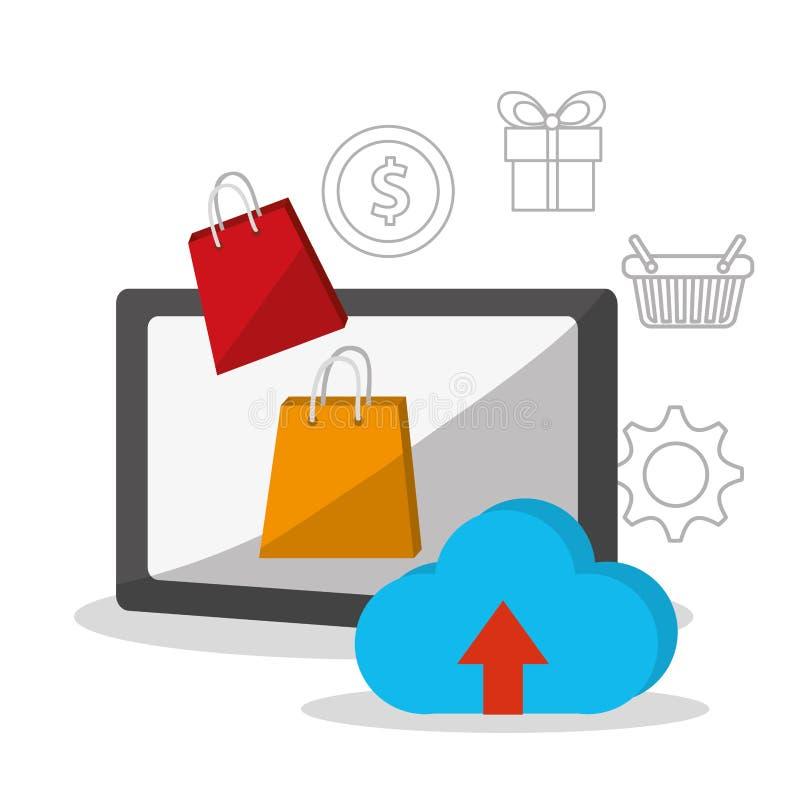 Digital Marketing design. Digital marketing concept with shopping icons design, vector illustration 10 eps graphic vector illustration