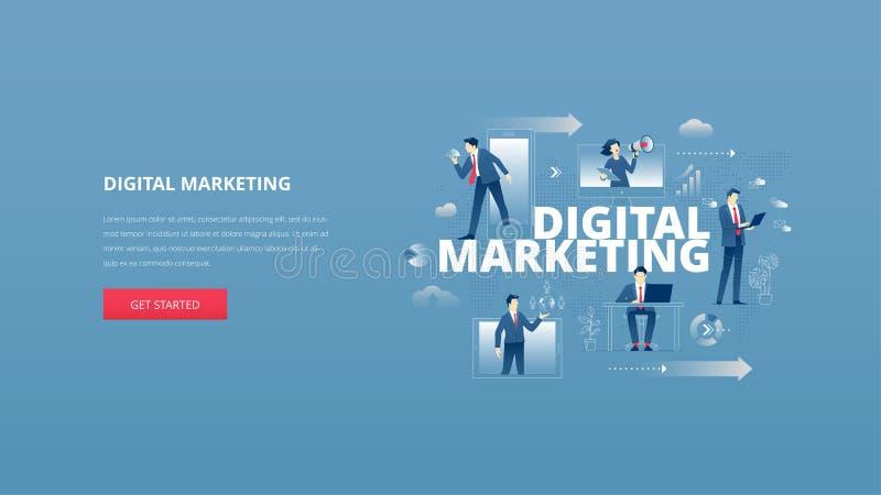Digital Marketing Flat Banner Stock Vector Image 59166511
