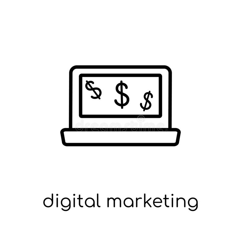 Digital marketing icon from collection. royalty free illustration