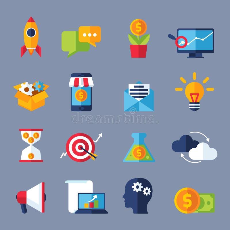 Digital Marketing Icons stock illustration