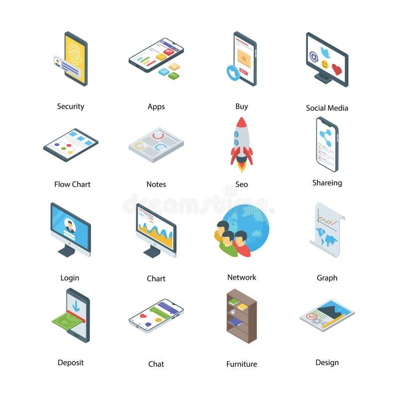 Digital Marketing Icons Pack royalty free illustration