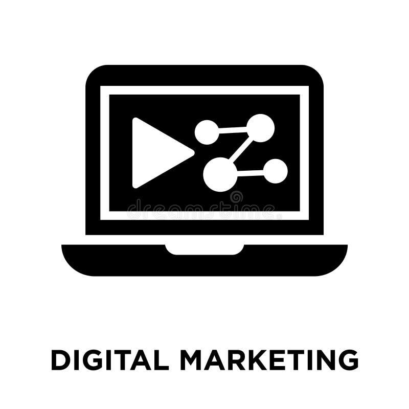 Digital-Marketing-Ikonenvektor lokalisiert auf weißem Hintergrund, Logo stock abbildung
