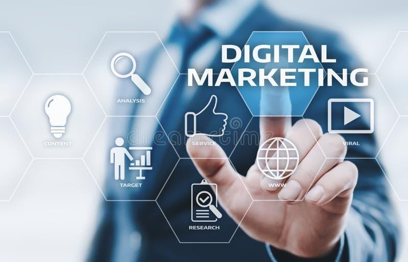 Digital-Marketing-Inhalts-Planungs-Werbestrategiekonzept lizenzfreie stockbilder