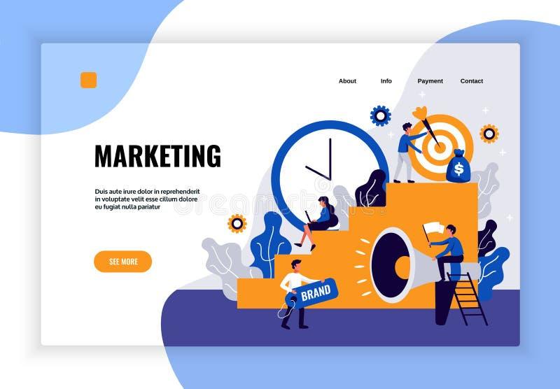 Digital Marketing Page Design vector illustration
