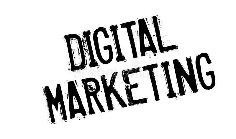 Digital-Marketing-Stempel lizenzfreie abbildung