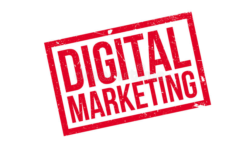 Digital-Marketing-Stempel stock abbildung