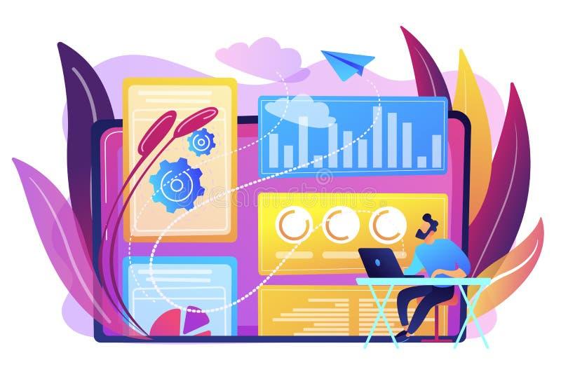 Attribution modeling concept vector illustration. stock illustration