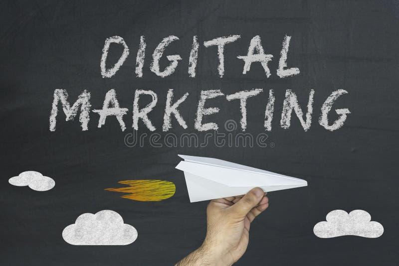 Digital-Marketing, Tafel, Tafel lizenzfreies stockbild