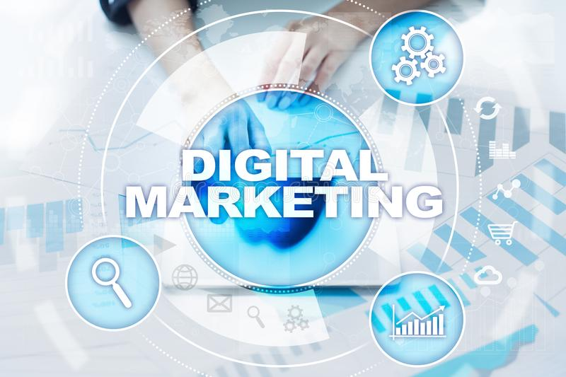 DIgital marketing technology concept. Internet. Online. Search Engine Optimisation. SEO. SMM. Advertising. stock photography