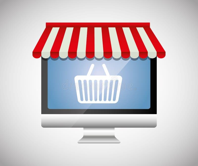 Digital-Marketing und -Online-Verkäufe lizenzfreie abbildung