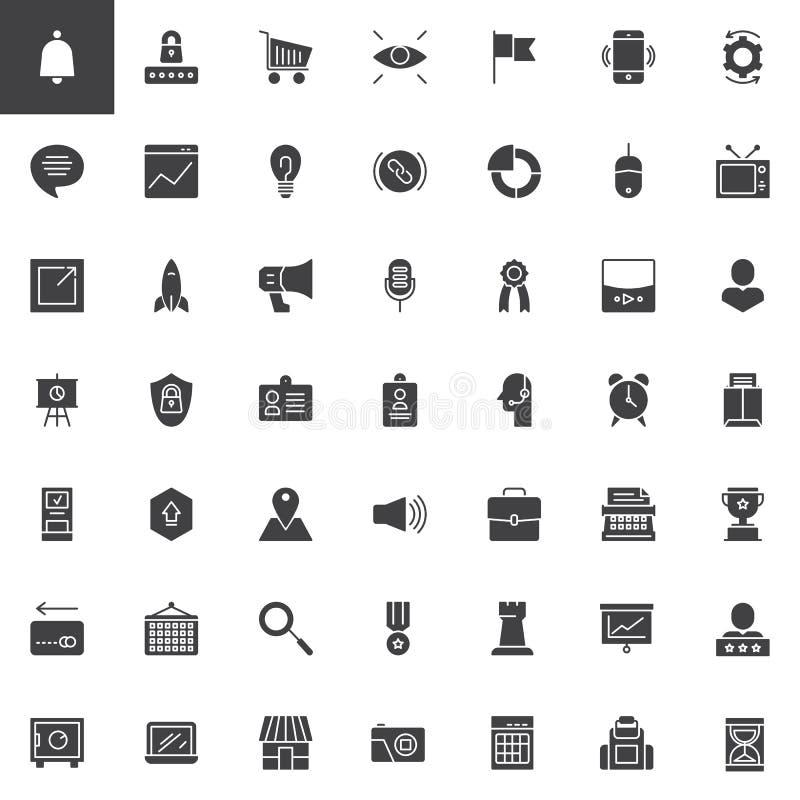 Digital marketing vector icons set vector illustration