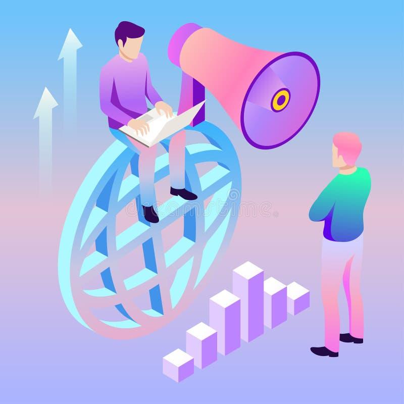 Digital Marketing Vector Illustration. Template For ...