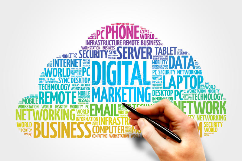 Digital marketing royalty free stock photo