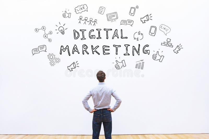 Digital marknadsföring royaltyfri bild