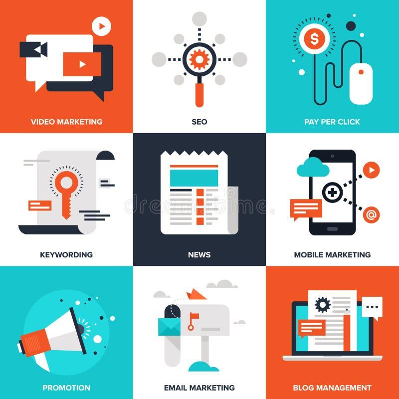 Digital marknadsföring stock illustrationer