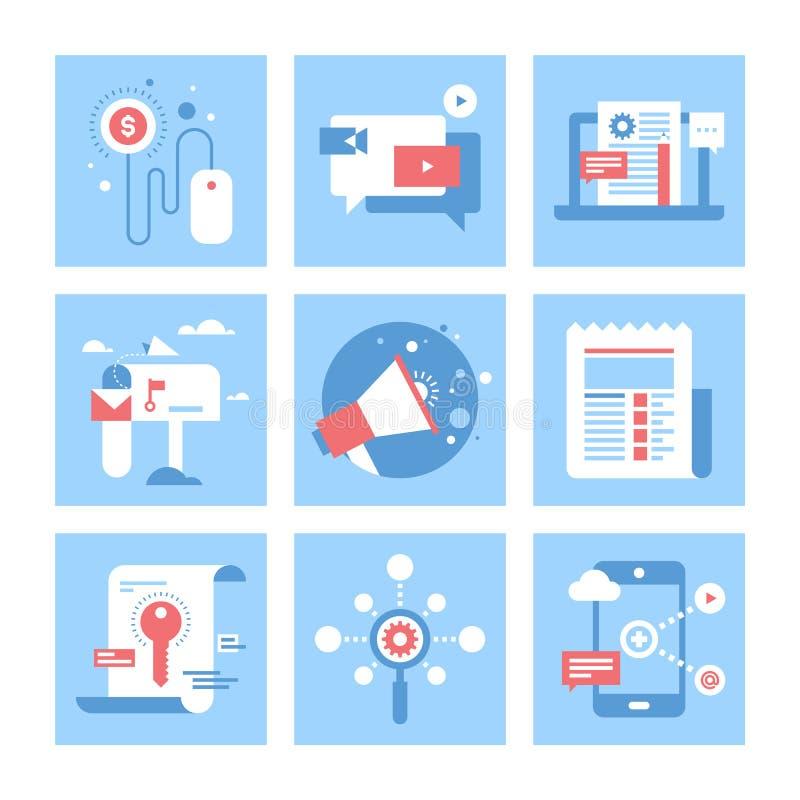Digital marknadsföring vektor illustrationer