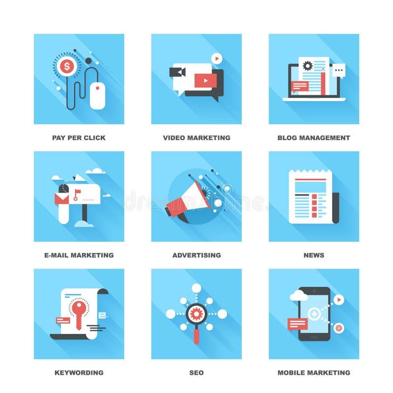 Digital marknadsföring royaltyfri illustrationer