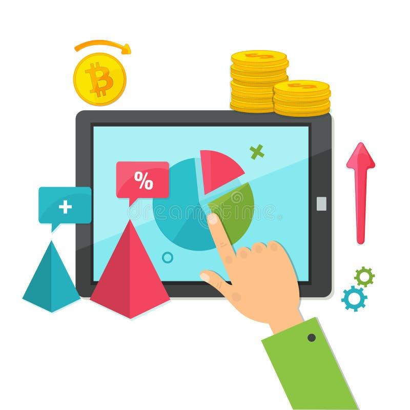Digital marknadsföring, online-affärsidé vektor illustrationer