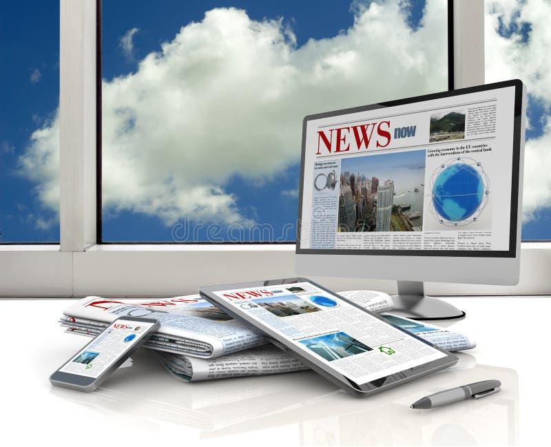 Digital media devices royalty free illustration