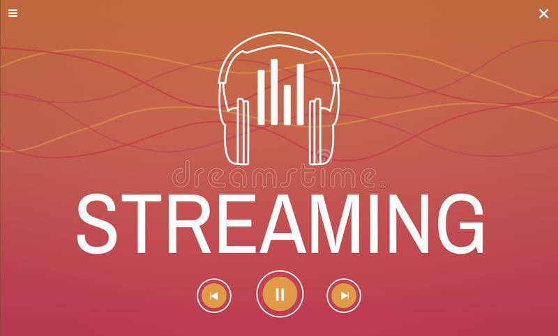Digital media music streaming audio leisure. Digital music streaming audio leisure vector illustration
