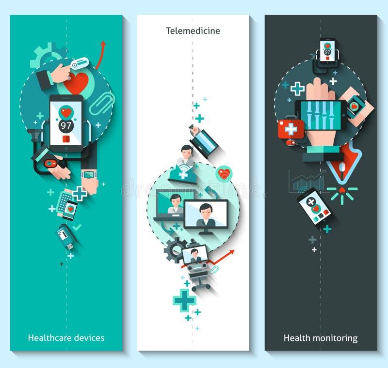 Digital Medicine Banners Vertical vector illustration