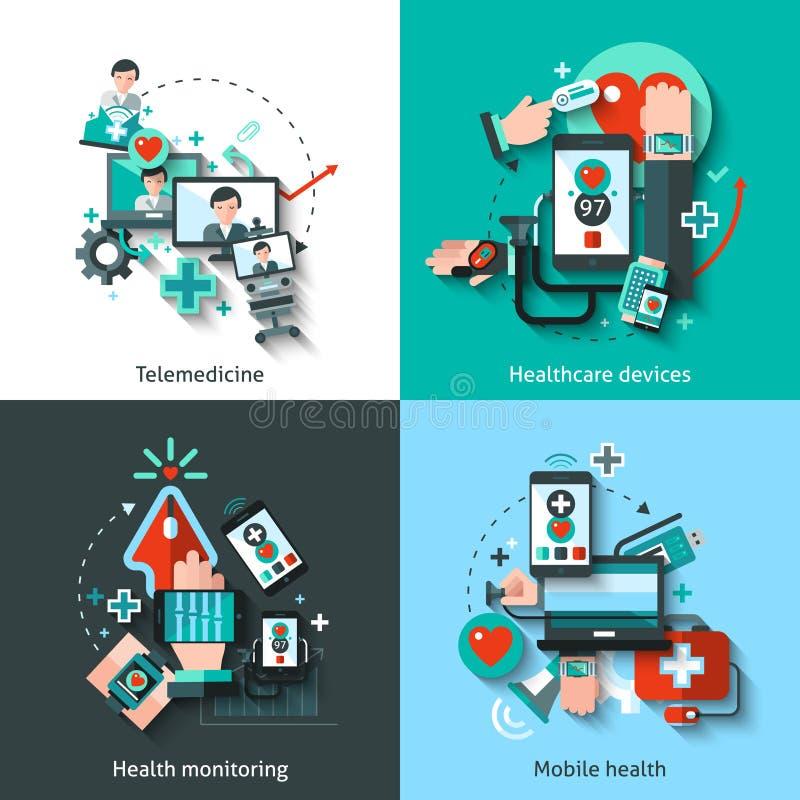 Digital Medicine Set royalty free illustration