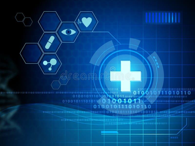 Digital medicinmanöverenhet royaltyfri illustrationer