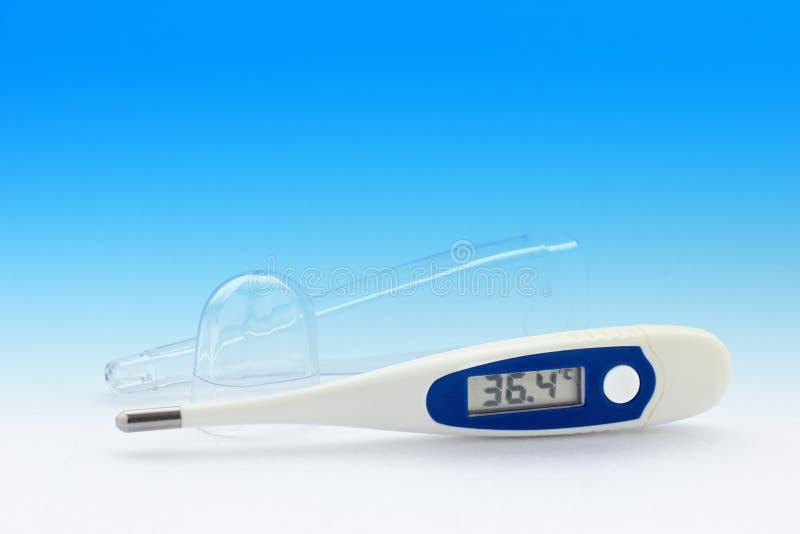 Digital medicinsk termometer arkivfoton