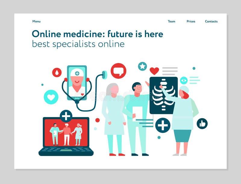 Digital-Medizin-Netz-Fahne lizenzfreie abbildung