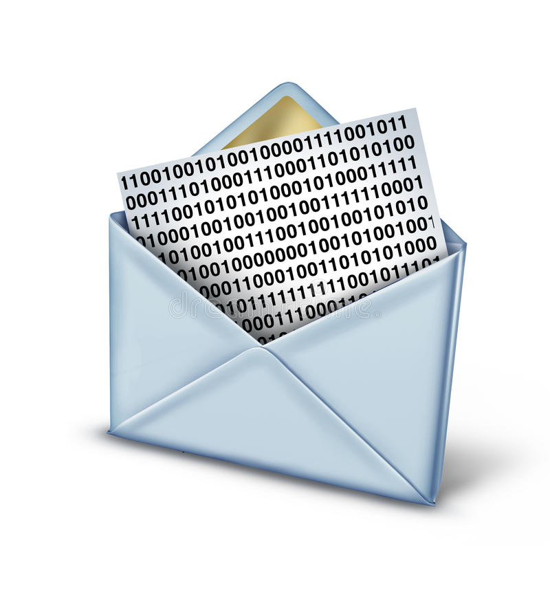 Download Digital Message stock illustration. Image of e, digital - 32575676