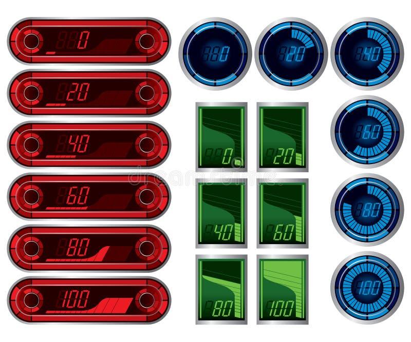 Download Digital meter stock vector. Image of miles, automobile - 23607988